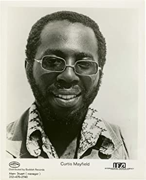 Original promotional photograph of Curtis Mayfield, circa 1970): Mayfield, Curtis]