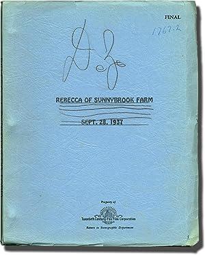 Rebecca of Sunnybrook Farm (Original screenplay, producer: Wiggin, Kate Douglas