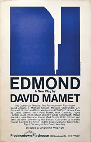 Edmond (Poster from New York stage debut): Broadsides] Mamet, David