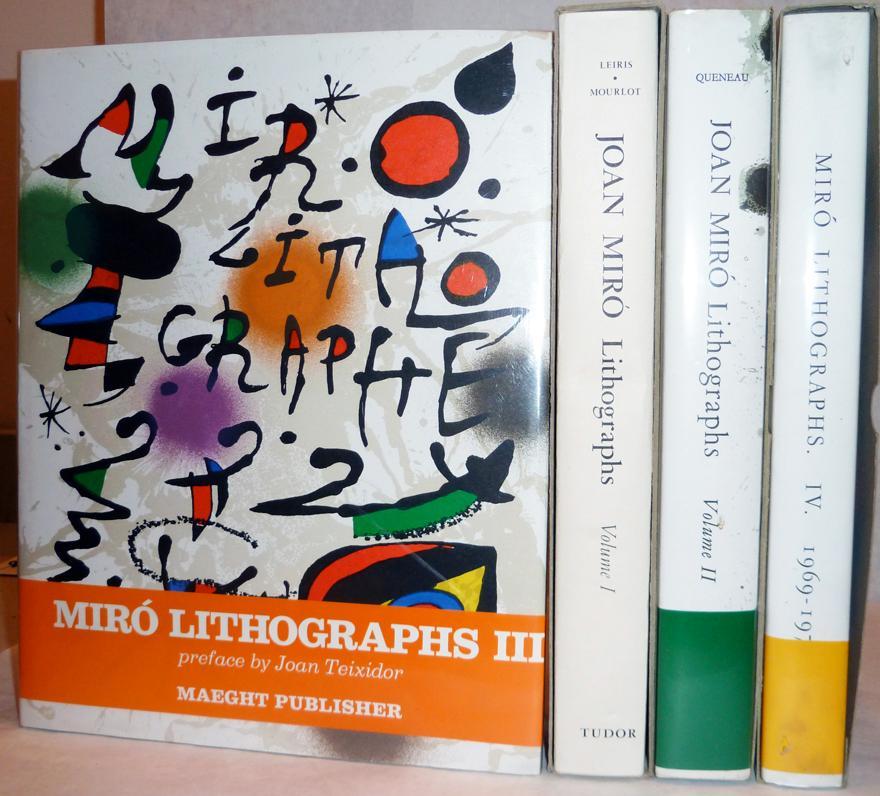 Joan Miro Lithographs Volumes 1-4: Leiris, Michel & Fernand Mourlot et al.