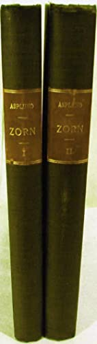 Zorn's Engraved Work A Descriptive Catalogue; Translated by Edward Adams-Ray: Asplund, Karl