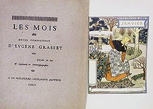 Les Mois Douze Compositions D'Eugene Grasset graves fur bois & imprimes en ...