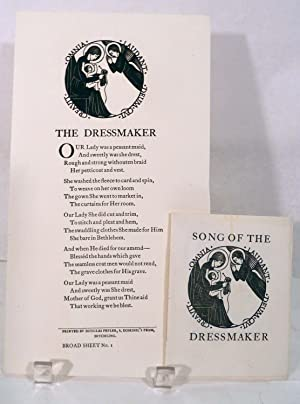 Song Of The Dressmaker WITH The Dressmaker [Broad Sheet No.1]: Gill, Eric (Illustrator)