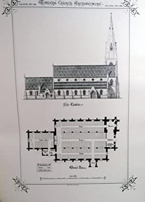 Church Architecture Plans Elevations And Views Of Twenty-One Churches And Two School-Houses; ...