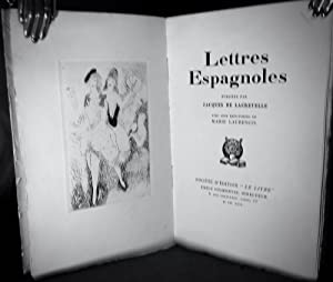 Lettres Espagnoles by Jacques De Lacretelle: Laurencin, Marie (Illustrator)