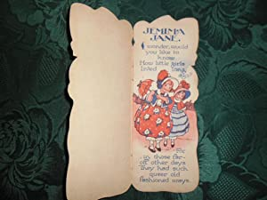 Jemima Jane (Child's Storybook shaped as little girl): ANON