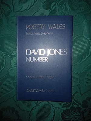 Poetry Wales Winter 1972 Volume 8 Number 3. A DAVID JONES Number The 'Special' Hardback Edition