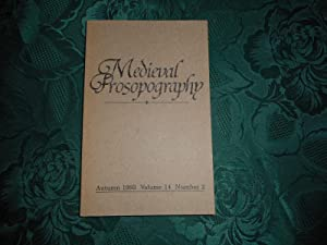 Medieval Prosopography Autumn 1993 Volume 14 Number 2
