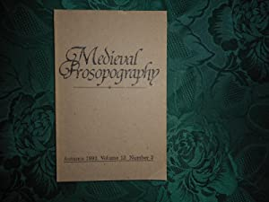 Medieval Prosopography Autumn 1992 Volume 13 Number 2