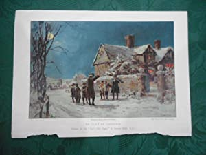 'An Old Time Christmas' PRINT - A Coloured Lithograph from