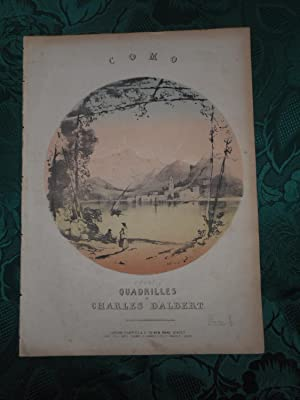 COMO. A Set of Quadrilles by Charles D'Albert. Delightful Coloured Lithograph Sheet Music Cover (...