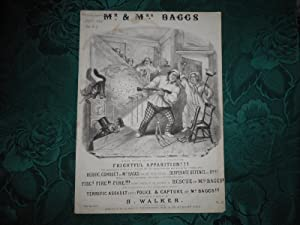 Mr and Mrs Baggs - Sheet Music Cover - Black & White Lithograph T. H. Jones Illustrator of This B...