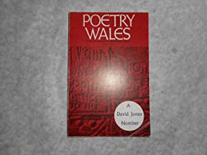 Poetry Wales Winter 1972 Volume 8 Number 3. A DAVID JONES Number