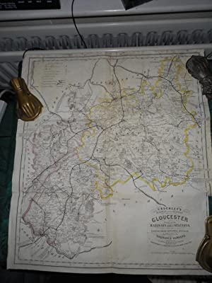 Cruchley's Railway and Station Map of (The County of) GLOUCESTER. Showing all the Railways and Na...