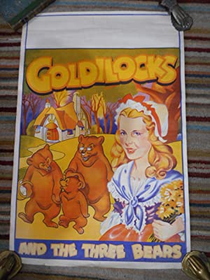 GOLDILOCKS and the THREE BEARS Pantomime Poster Delightful ORIGINAL Vintage Lithographic paper po...