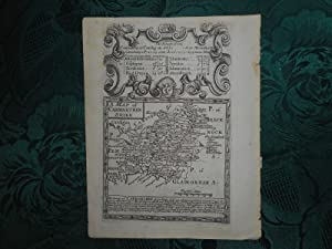 Original Owen & Bowen Antique Map of CARMARTHENSHIRE. Circa. 1720 From Britannia Depicta, or ' Og...