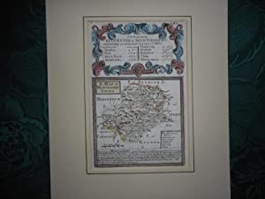 Original Owen & Bowen Antique Map of MONTGOMERYSHIRE. Circa. 1720 From Britannia Depicta, or ' Og...
