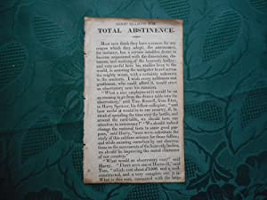 Good Reasons for TOTAL ABSTINENCE. 4 Page Victorian Tract