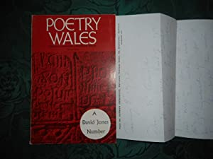 Poetry Wales Winter 1972 Volume 8 Number 3. A DAVID JONES Number Arthur Giardelli's Copy, with a ...