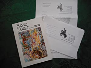 The David Jones Journal Winter 2004 / Spring 2005. Volume V. Nos. 1 & 2. (With a Hand-Written Not...