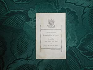 Dance Card for 'CARMARTHEN Quadrille Class Ball, New Year's Eve 1889'.
