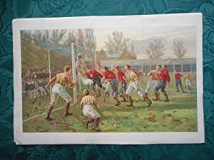 GOAL. Football Game. Large Antique Colour Plate from 'The Boys Own Paper' 1897. 17