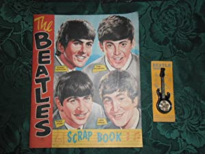 ORIGINAL 'The Beatles Scrap Book' Together with an Original 'BEATLE BROOCH'. Both Circa 1960s.