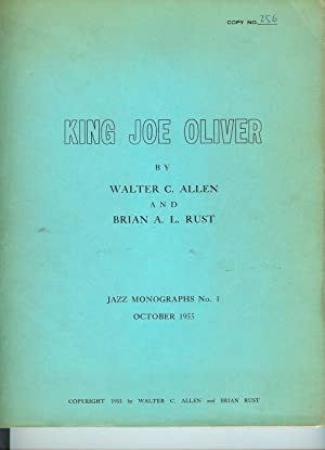 King Joe Oliver (Jazz Monographs No. 1)