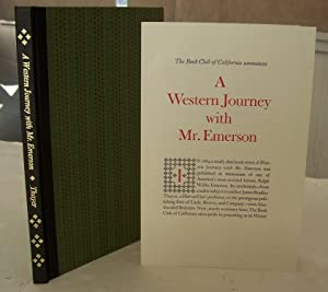 A Western Journey with Mr. Emerson. Edited with a foreword and notes by Shirley Sargent.