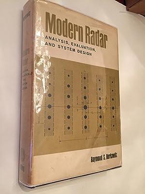 Modern Radar analysis, evaluation, and System Design: Raymond S. Berrkowitz
