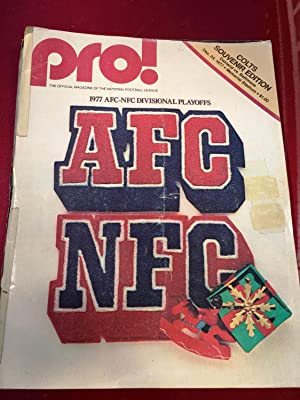 Pro ! The Official Magazine of the National Football League Colts Souvenir Edition Baltimore vs, ...
