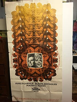 How Sweet It Is A Debbie Reynolds Movie Poster also starring James Garner and Maurice Ronet