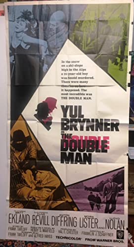 Double Man Movie Poster starring Yul Brynner