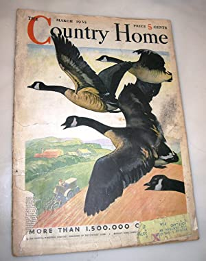 The Country Home Magazine March 1935 (cover of Geese in Flight by Carl Burger)