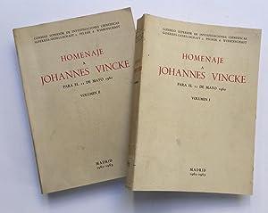 Homenaje a Johannes Vincke (2 volúmenes): Rubio i Balaguer,