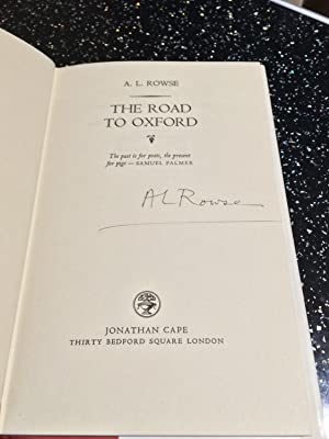 The road to Oxford: A L Rowse