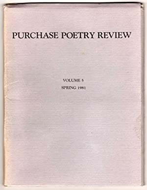 Purchase Poetry Review - Volume 5 - Spring 1981
