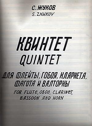 Quintet for Flute, Oboe, Clarinet, Bassoon, and: Zhukov, Sergei