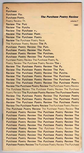 Purchase Poetry Review - Volume 7 (1983)
