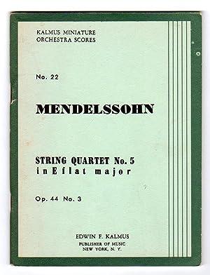 String Quartet No.5 In E-flat Major -: Mendelssohn, Felix
