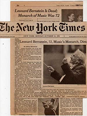 Leonard Bernstein - New York Times Obituary - October 15, 1990-