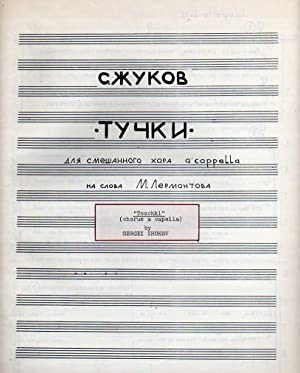 Toochki (Clouds) - for Mixed Chorus a: Zhukov, Sergei (born