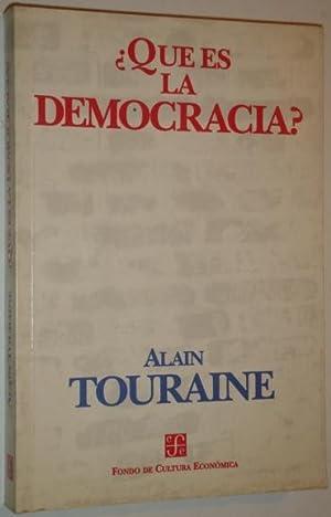 Que es la democracia?: Touraine, Alain