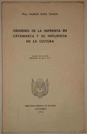 Origenes de la imprenta en Catamarca y: Rosa Olmos, Ramon