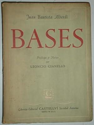 Bases: Alberdi, Juan Bautista
