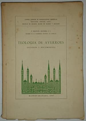 Teologia de averroes (estudios y documentos): Alonso, P. Manuel (S.I.)