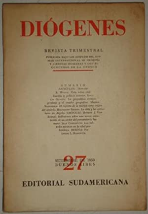 Diogenes. Revista trimestral. Numero 27