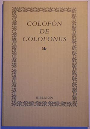 Colofón de colofones