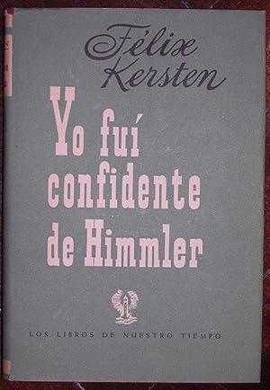Yo fui confidente de Himmler: Kersten, Felix