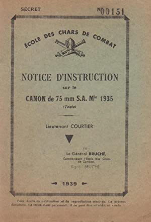 Notice d'instruction sur le canon de 75 mm S.A. Mle 1935 (texte)